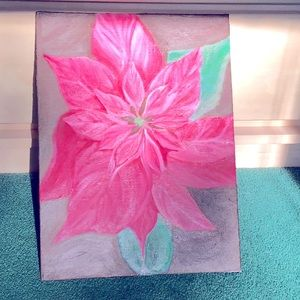 Lovely 🥰 pink poinsettia painting 🖼